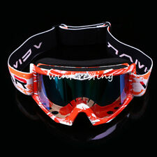 Kids Anti UV Dust Motorcycle Motorbike Goggles Glasses Off Road Eyewear Red