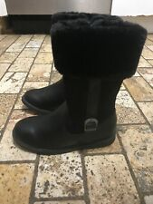 Carters Girls Zip Up Black Fur Trimmed Tampico Boots Size 12 NWOB