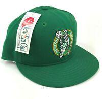 Vintage Boston Celtics Green Wool New Era Pro Model Fitted Hat Cap Leprechaun