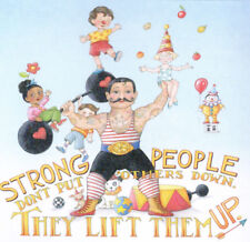 Strong People Lift Up-Handcrafted Circus Fridge Magnet-W/Mary Engelbreit art