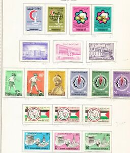 SYRIA -  - FVF unused light hinged - issues from 1963-1966  -  eight scans