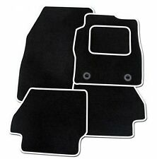 PEUGEOT 107 2005 ONWARDS TAILORED BLACK CAR MATS WITH WHITE TRIM