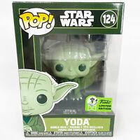 Funko Pop Green Yoda ECCC Exclusive #124 Official Con Sticker Star Wars