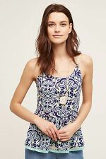 NWT SZ S $58 ANTHROPOLOGIE NURIA SWING TANK BY MEADOW RUE FLORAL TOP TEE SHIRT