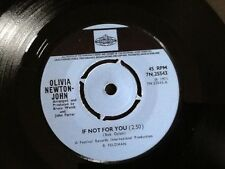 OLIVIA NEWTON - JOHN . IF NOT FOR YOU / THE BIGGEST CLOWN  . 1971 . Classic hit