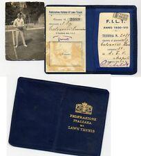 V 10 TESSERA FEDERAZIONE ITALIANA LAWN TENNIS 1930