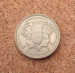 1x 1986 £2 Two Pound Coin XIII Commonwealth Games Scotland Scottish Thistle GB