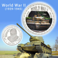 WR World War ii Germany Tiger Tank Silver Commemorative Coin Nice Gift