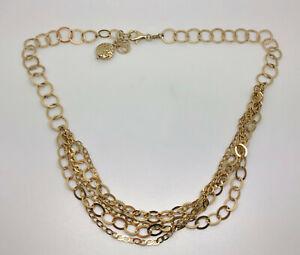 "Milor Veronese Italian Gold on Sterling Silver Multi Strand Necklace 18-20"""