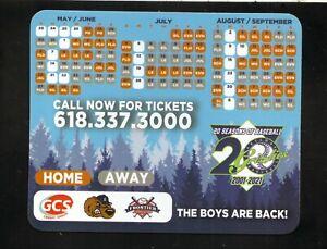 Gateway Grizzlies--2021 Magnet Schedule--GCS Credit Union--Frontier League