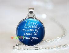 Romantic Heart of the Ocean romant Tibet silver Chain Pendant Necklace wholesale
