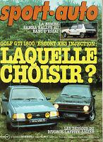 SPORT AUTO 250 1982 GP LAS VEGAS TALBOT SAMBA RALLYE SAN REMO GOLF GTI 1800 ESCO