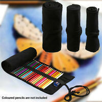 Canvas Holder Wrap Roll Up Stationery Pen Brushes Makeup Pencil Case Pouch