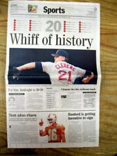 1996 newspaper Boston Red Sox ROGER CLEMENS sets record  STRIKES OUT 20 MEN