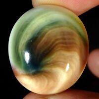 32.10Cts Natural Shiva Eye Oval Cabochon Loose Gemstone