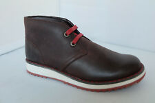 Clarks Boys Boots FLEET STYLE in Brown Leather Lace Up