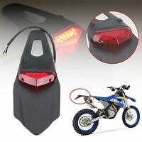 12V Motorcycle Enduro Dirt Bike Fender LED Stop Rear Tail Light Lamp Universal