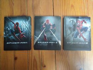 Spiderman 1 2 3 - trilogie Sam Raimi - Edition steelbook TOPITO très rare