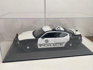 LVMPD police Dodge Charger working lights custom model, Display Case Las Vegas