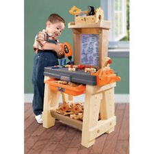 Kids Pretend Play Workshop And Tool Bench Playset Children Toddler Boys Gift New