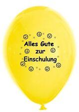 10 Luftballons Einschulung, bunt sortiert, ca. 30 cm - Schulanfang 1 Schultag