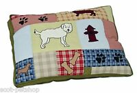 Large Dog Bed Quilted Embroidered Soft Cotton Dog Bed Aspen Pet