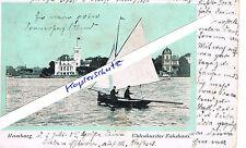 """""""Uhlenhorster Fährhaus"""" mit Segler, Kutter auf der Alster, Außenalster 1905"""