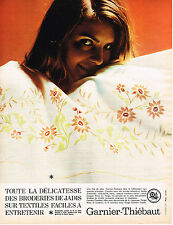 PUBLICITE ADVERTISING  1967   GARNIER-THIEBAUT    draps