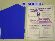 Press-n-Peel Blue PCB Transfer Paper Film Etch Circuit Boards Jewelry 30 Sheets