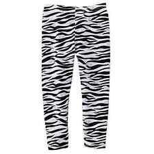 NWT NEW JUMPING BEANS ZEBRA Heart silver black white pants leggings girl sz 4