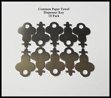 Universal Paper Towel Dispenser Key Precut 10 Pack New Janitor Refill