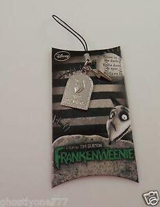 Frankenweenie Rest in Peace Sparky cell phone charm Disney Tim Burton