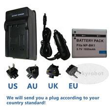Battery+charger For SONY NP-BK1 DSC-W180 W190 W370 S980 S950 S750 MHS-CM5 PM5 1