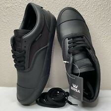 Supra Men's Hammer Low Top Jim Greco Black Leather Brand New Skate BMX 9 9.5 10