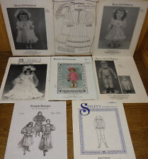"""Lot of 8 vintage Doll Outfits & Cloth Body Patterns for 18"""" - 22"""" dolls Uncut"""