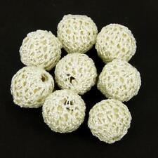 CROCHET LAINE secondes Tissu Perles, 22 mm Blanc Lot de 5 bébé dentition CR82
