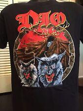 Rare Vtg. 90 Dio Wolves Tour Shirt Sz M/L Hard Rock Evil Metal Sabbath Rainbow