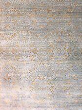 Modern  Design -  Fine Wool & Silk Rug - Contemporary Indian Carpet 8.10 x 12.1