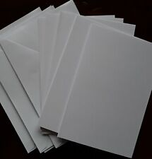 """New. 5 white blank cards with envelopes 7"""" x 5"""". Make your own cards"""