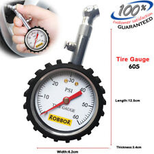 Robbor Tire Pressure Gauge Heavy Duty Car & Motorcy 0-60 PSI -3 Year Warranty