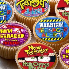 24 icing cake toppers decorations - 13th Birthday teenager at last ND1