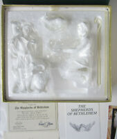 Lenox The Nativity Shepherds of Bethlehem Mint Set In Box White Bisque COA