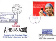 [r40] Erstflugpost - Emirates - Dubai - Mauritius - Airbus A380 - 12.03.2013