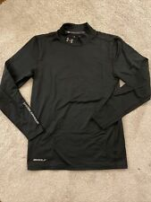 Under Armour Cold Gear Long Sleeve Fitted Base Layer Small S Mock Shirt Golf