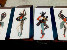 Complete 4 Set Of turner Mfg Co. A969 WALL ART  1960's EthnicJesters. Great Con.