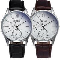 Luxury Fashion Crocodile Faux Leather Mens Analog Watch Business  Watches XMAS