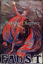 c.1905 Mephistopheles Henry Irving Faust Postcard B233