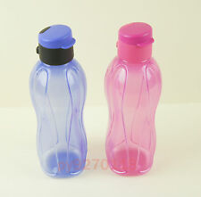 Tupperware Limited On The Go Eco Flip Top Bottles Set of 2 + Free Shipping