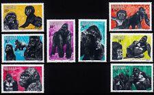 Rwanda 1983 Mi 1242 - 1249 gorillas MNH