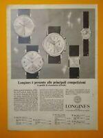 Pubblicita'Advertising Originale Vintage LONGINES orologio cronometro 1966 (A30)
